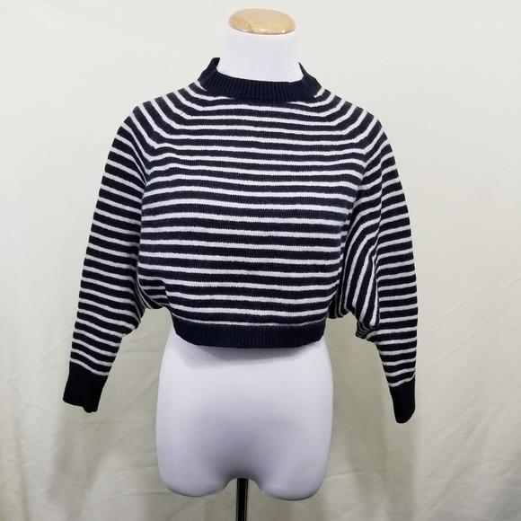 8a322fb7996 All Saints Sweaters - Allsaints Marcel cropped jumper black white stripe